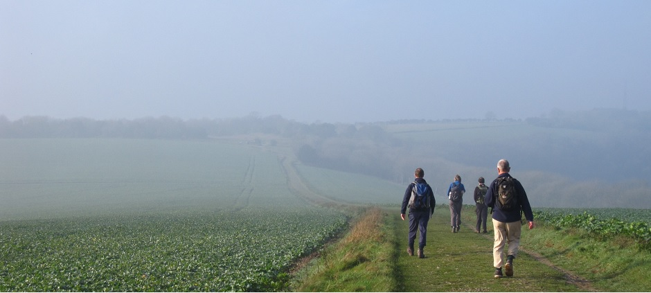 Photo : atmospheric walk on Berkshire Downs